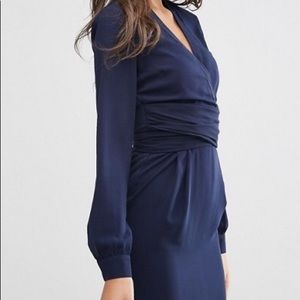 Asos Long Sleeve Tie Waist Dress Size S